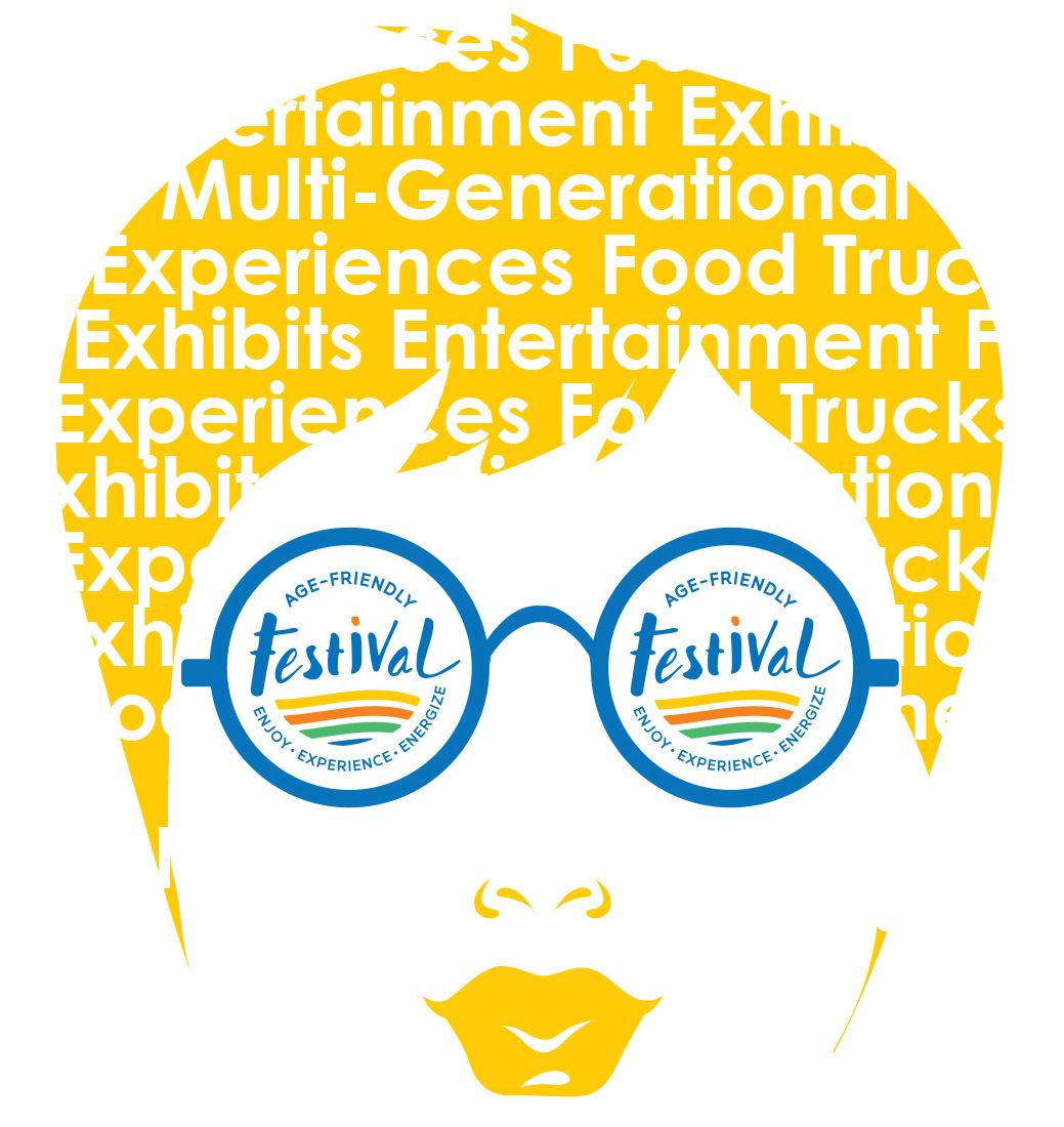 festival logo graphic showing woman with sunglasses