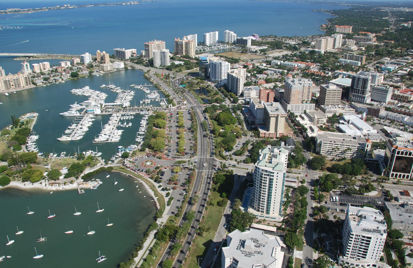 Photo example – aerial view of downtown Sarasota