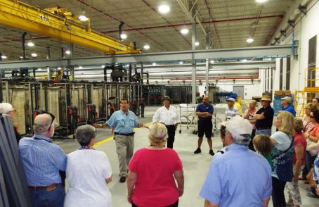 Photo example – group tour at a government facility